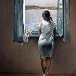Mujer en la ventana_Dali